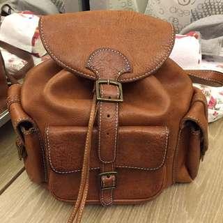 Club Monaco Leather Back Pack