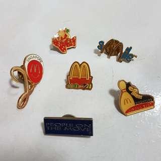 McDonald's 80 and 90 century Pins.