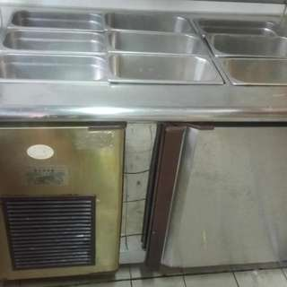 剉冰 沙拉 展示冰箱