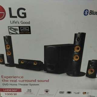 LG HOME THEATER 5.1CHANNEL WITH DVD PLAYER