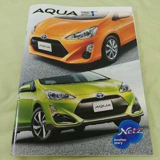 Toyota 豐田 Aqua (港版 Prius C) (連配件) 日本版 Catalogue