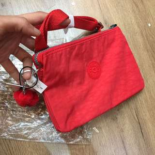 Authentic Kipling Red Pouch/Mini Bag