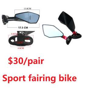 sport bike fairing bike side mirror rear
