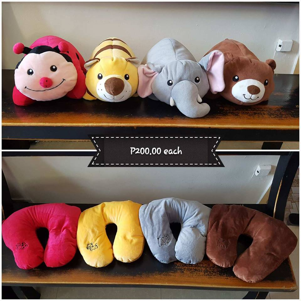 2-in-1 Animal Neck Pillow Stuffed Toys