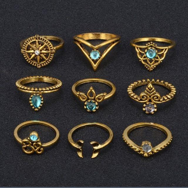 9pcs Rings