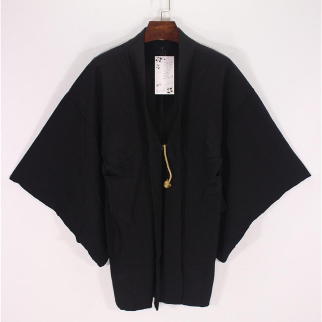 日本浴衣外套/素黑/羽織/透涼材質