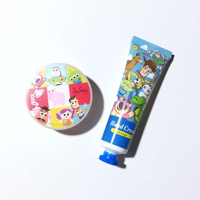 玩具總動員 薰衣草保濕隨身乳液+橘子口味護手霜