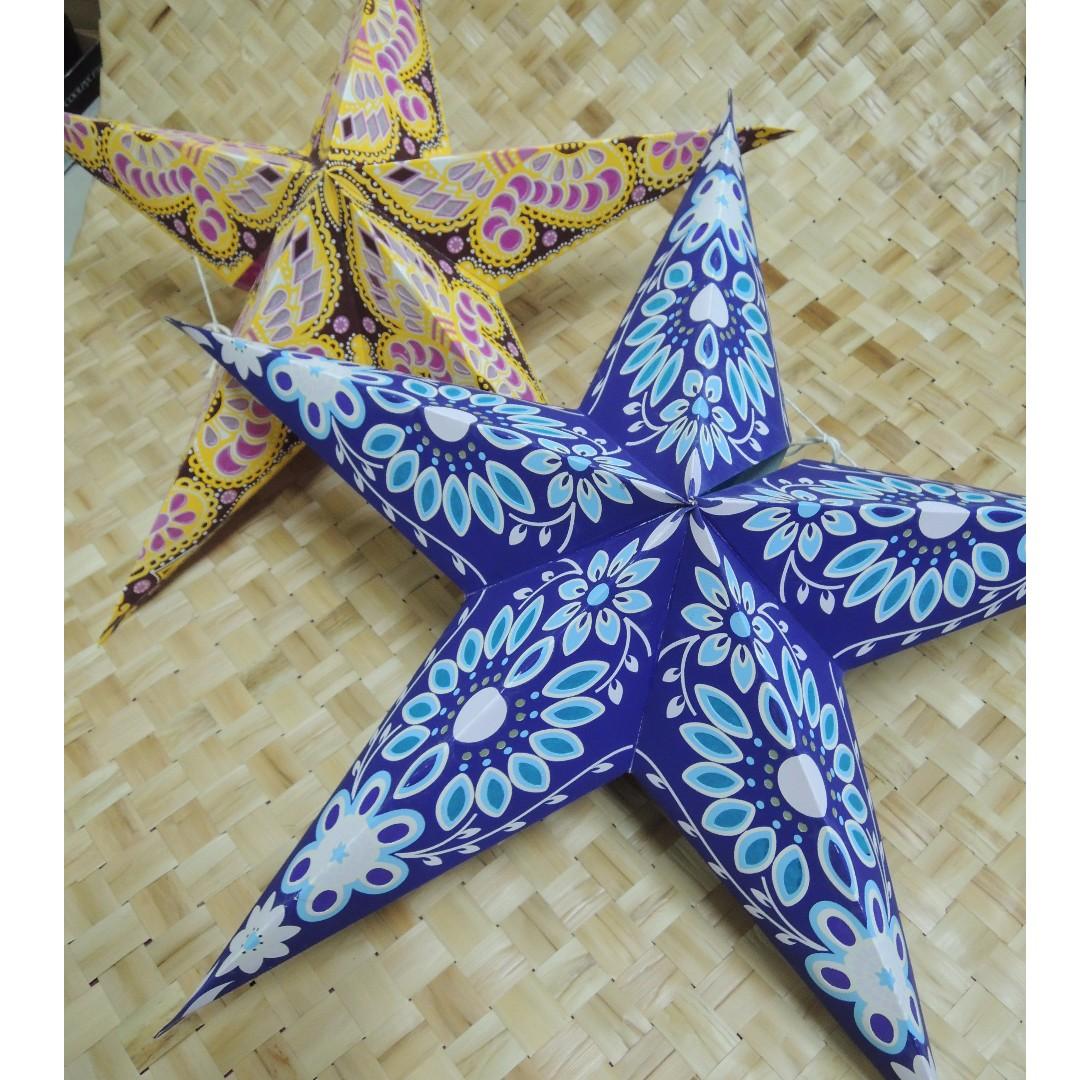 印度 手工星星紙燈罩