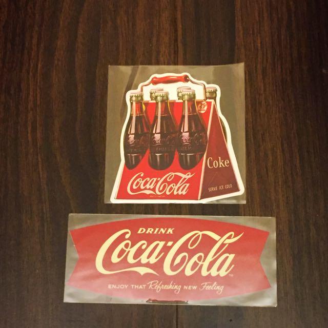 可口可樂 公司出品 貼紙 兩張ㄧ組