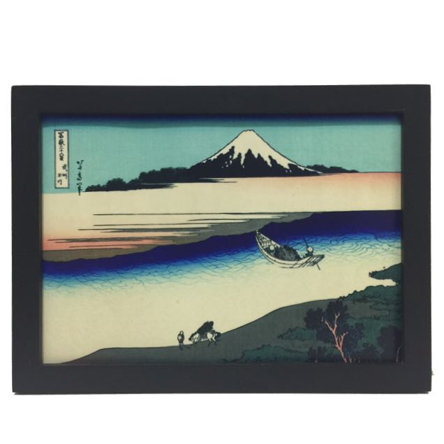 🇯🇵東洋風 富士山 輕舟 掛畫 壁飾