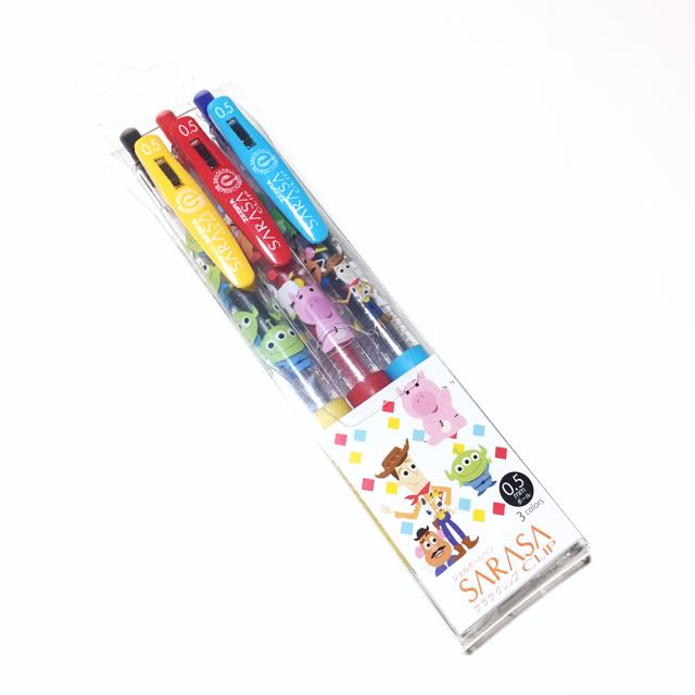 玩具總動員 SARASA原子筆 黑/紅/藍