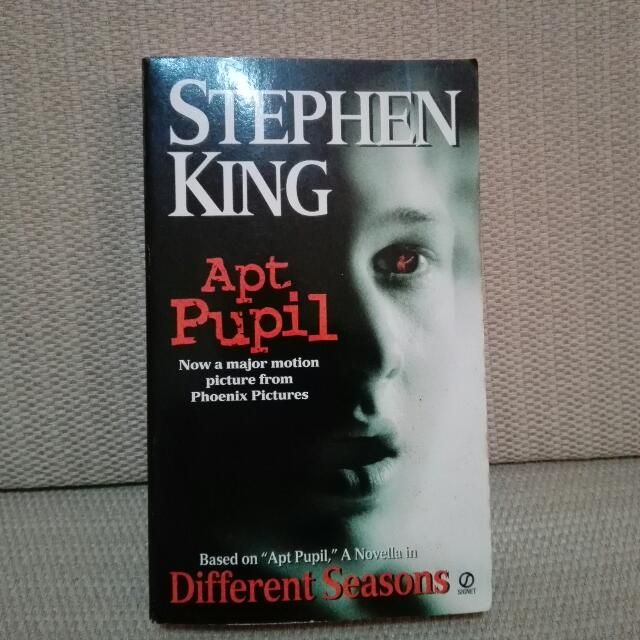 "💥🎆HURRY CHRISTMAS SALE !🎉""APT PUPIL""  by STEPHEN KING"