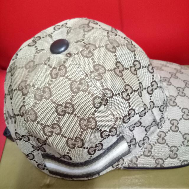 gucci cap hat unisex with dust bag 100 auth+brand new 387561 luxury ... 088b0742ce19