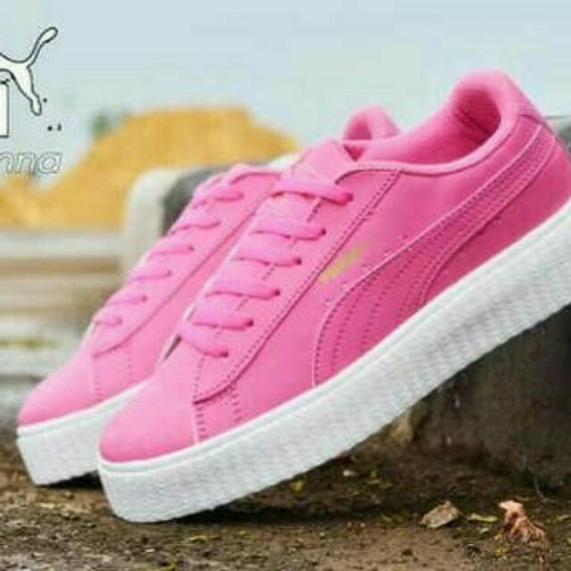 az - sepatu rihanna puma solid pink