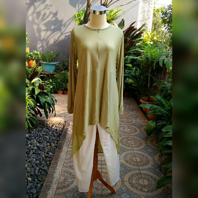 Baju Setelan Muslim - Tunik Jersey - Tunik Muslim - Baju Jersey