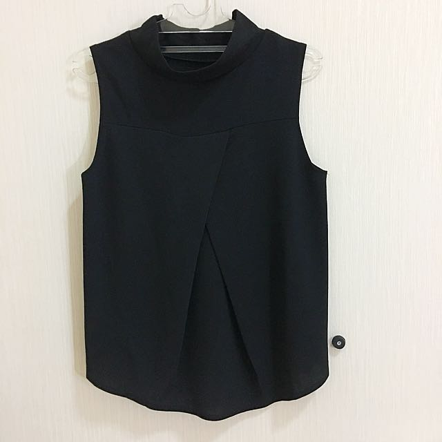 baju wanita black tank turtle neck