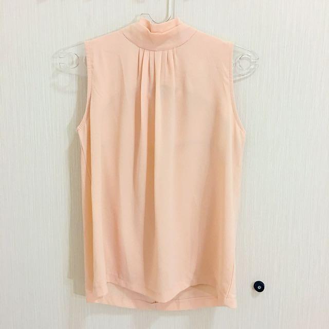 baju wanita peach tank turtle neck