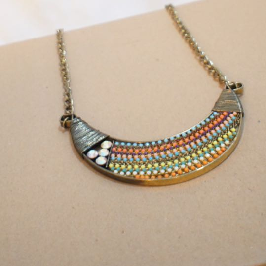 Beads Plate Necklace