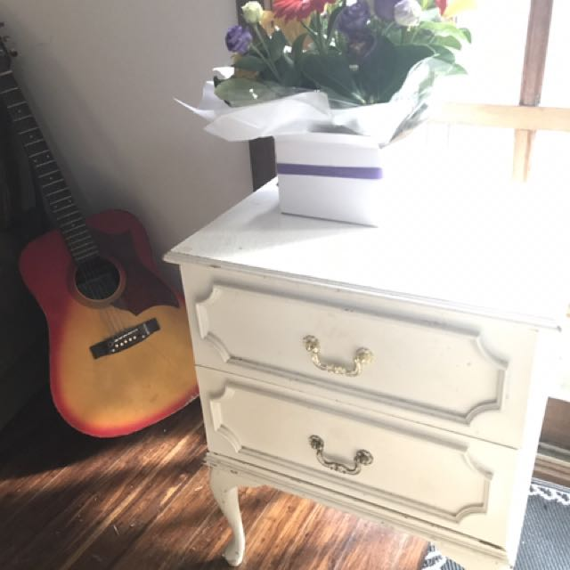 Bedside Table Queen Anne Two Drawer