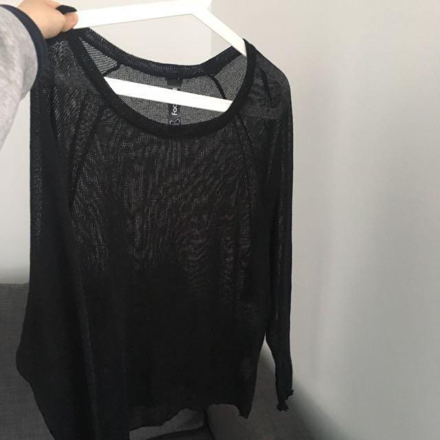 Black Factorie Mesh Top (XS/S)