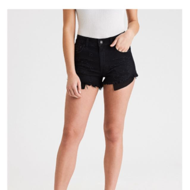 Black High Rise Shorts