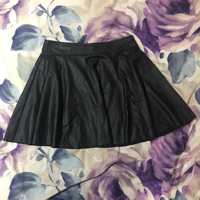 Bluejuice Leather Look Mini Skirt