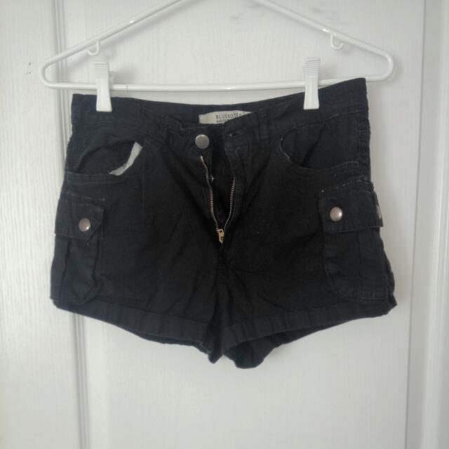 Bluenotes High-waisted Black Shorts