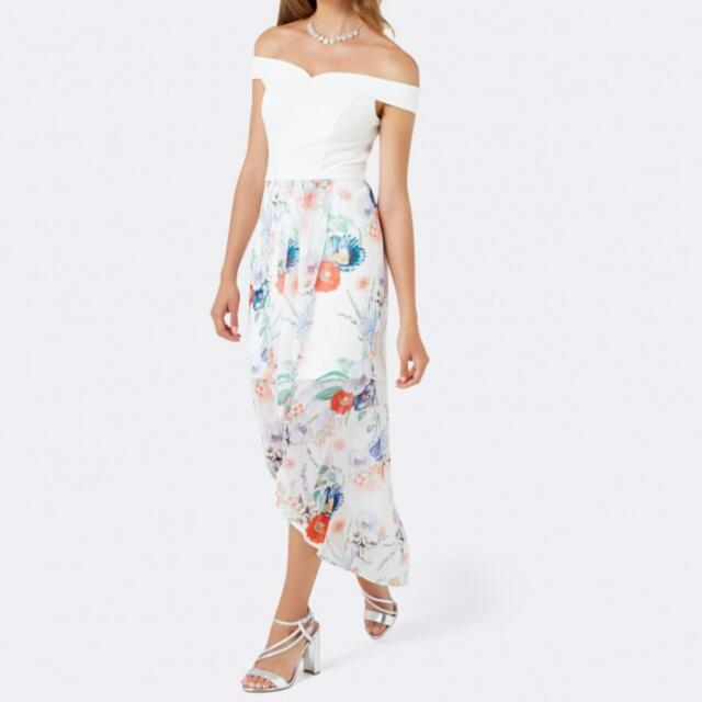 BN Forever New Plus Size Off-Shoulder Floral Prom/Night Dress ...