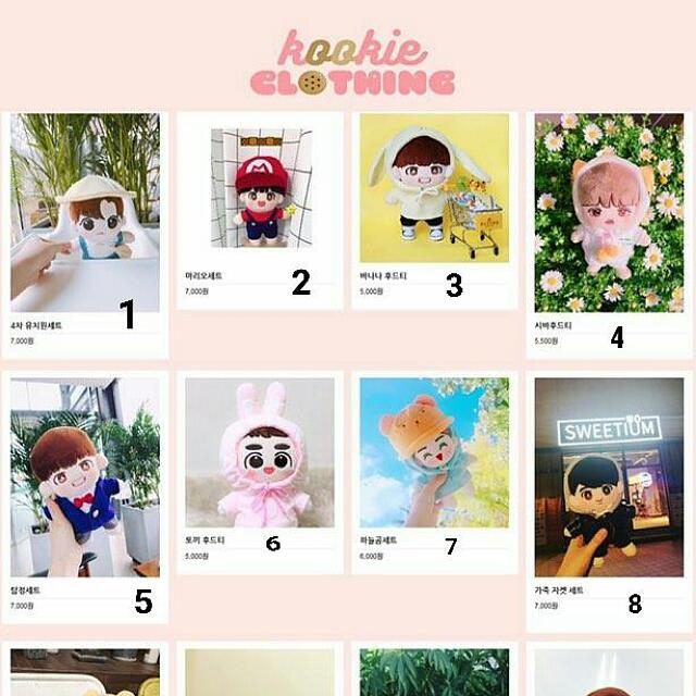 BTS DOLL CLOTHES 5th closet of kookieclothing by @kookieclothing