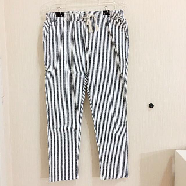celana panjang wanita stripes (korea)