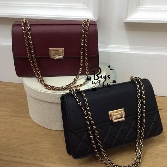 0deeb4bb9d CHARLES N KEITH QUILTED CHAIN SHOULDER BAG