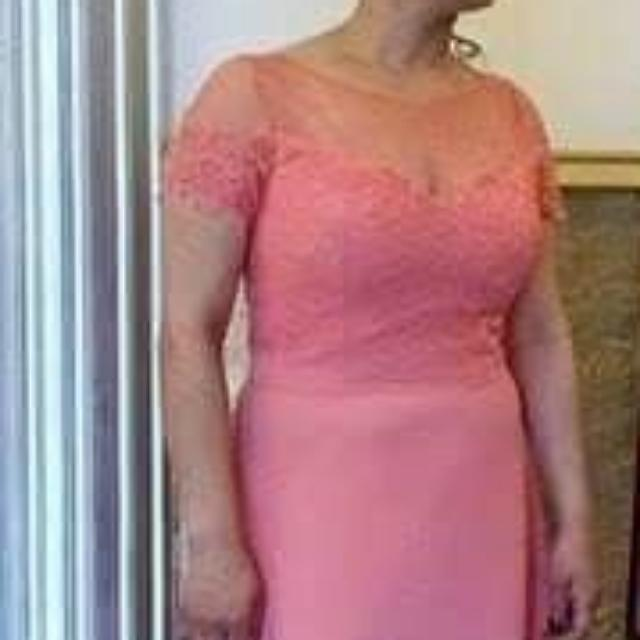 Coral Evening Dress Size 12