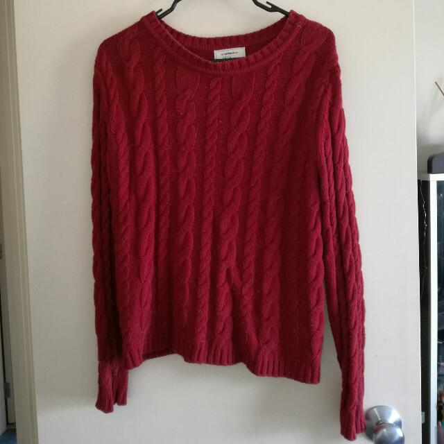 Cotton On Red Knitted Jumper