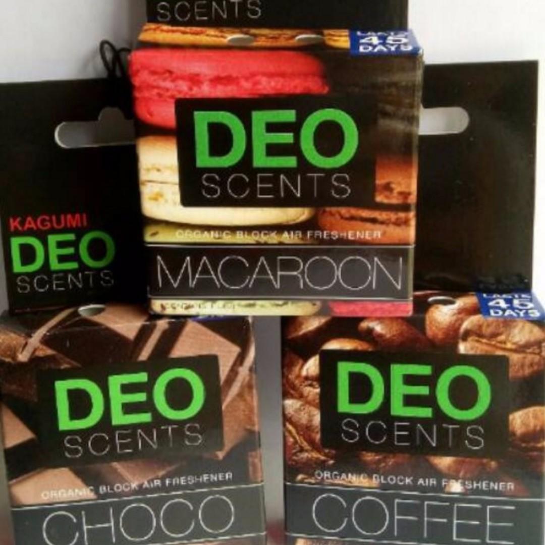 Deo scent aroma pengharum ruangan kamar mobil coklat kopi coffee vanilla chocolate