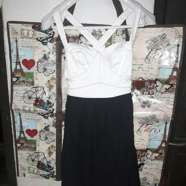 Dress Agneselle black n white
