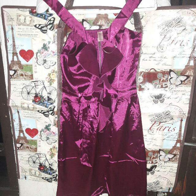 Dress Agneselle maroon