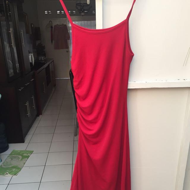 Dress Merah Panjang Salsa