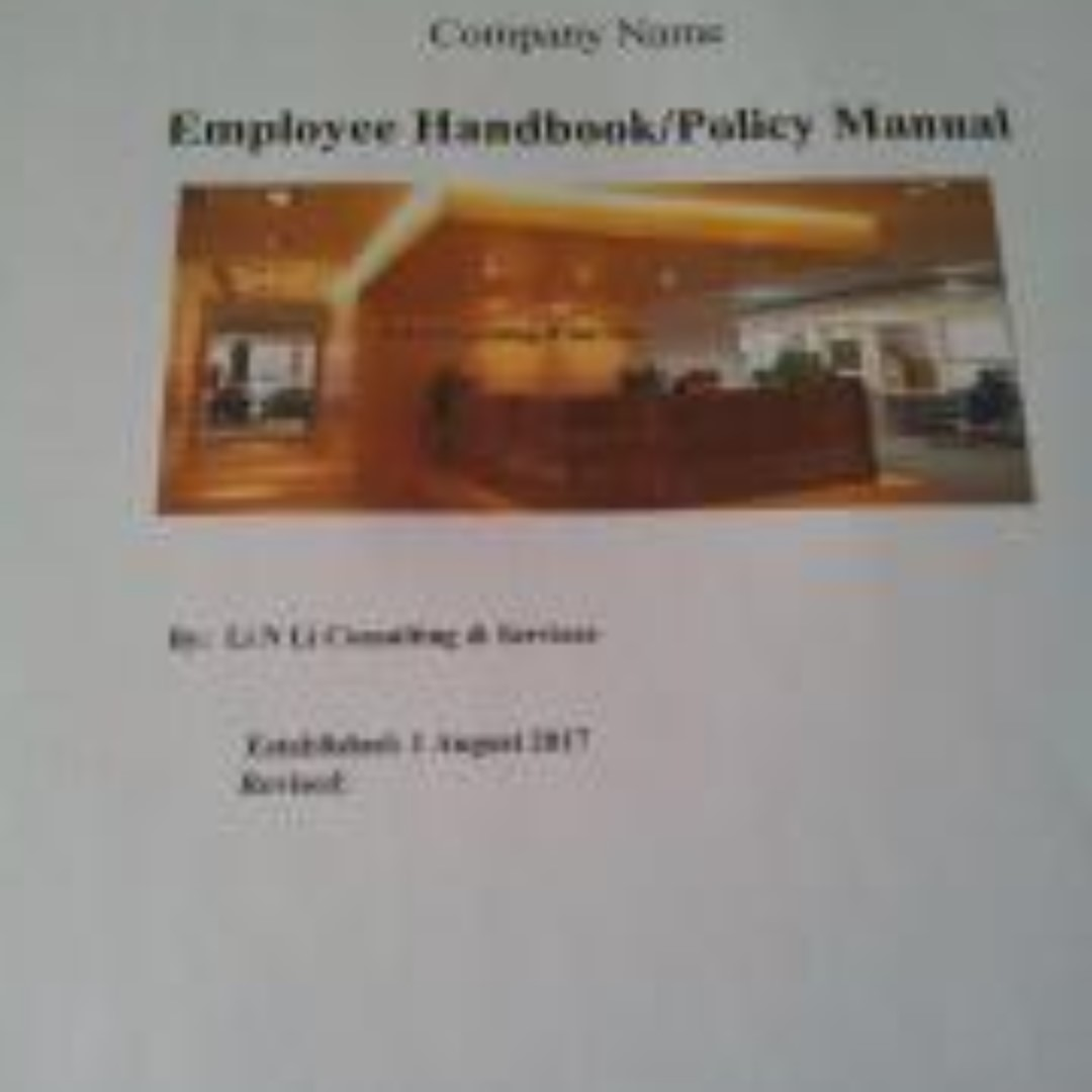 Employee Handbook Template (Singapore Labour Laws), Books ...