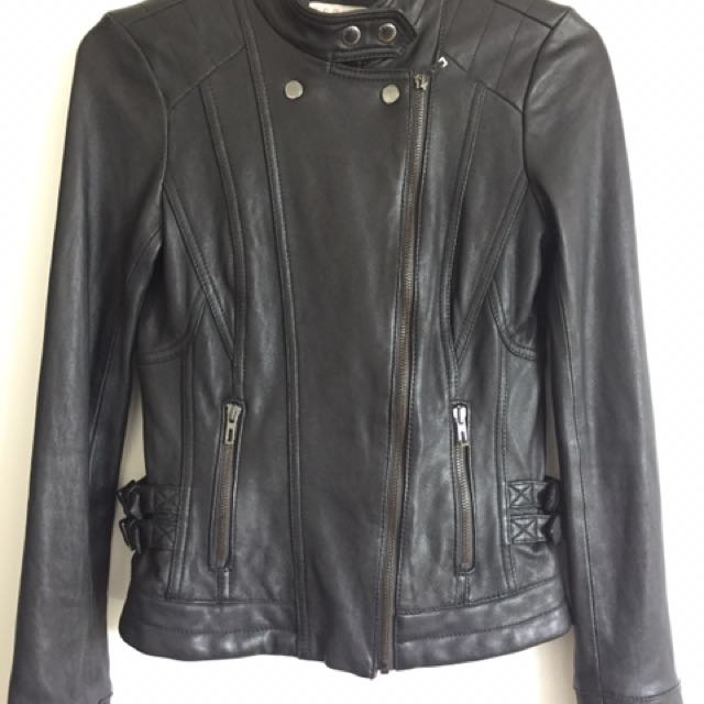 Esprit Lamb skin Biker Leather Jacket (size S)