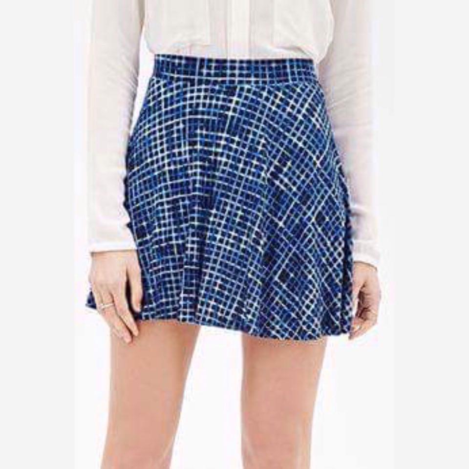 F21 Candy Color Skater Skirt