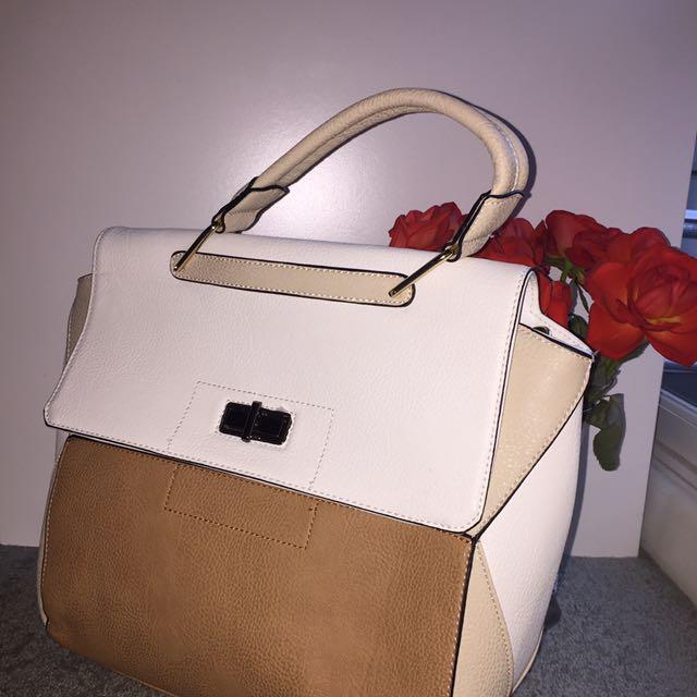 FAUX Leather Satchel BAG