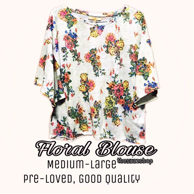 Floral Blouse By Zara