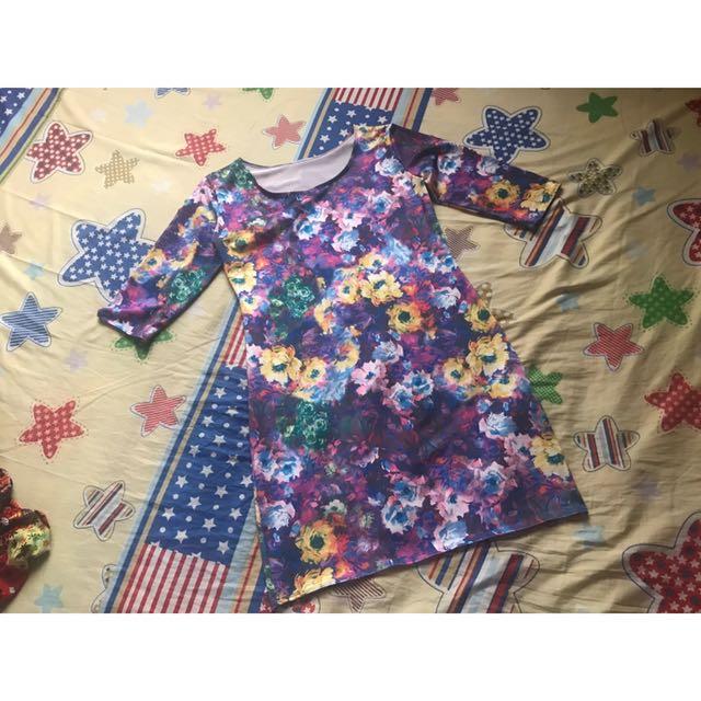Floral Purple Dress
