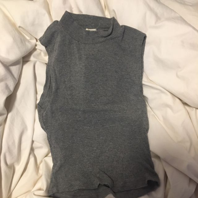 Garage High Neck Cropped Shirt