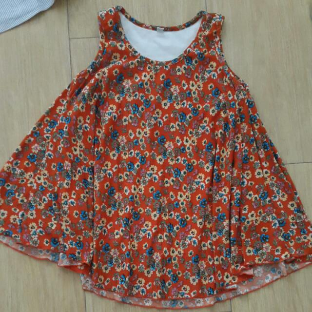 Girl Orange Dress 4yo
