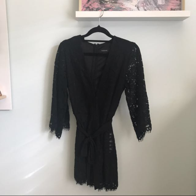Glassons Flair Sleeve Lace Playsuit