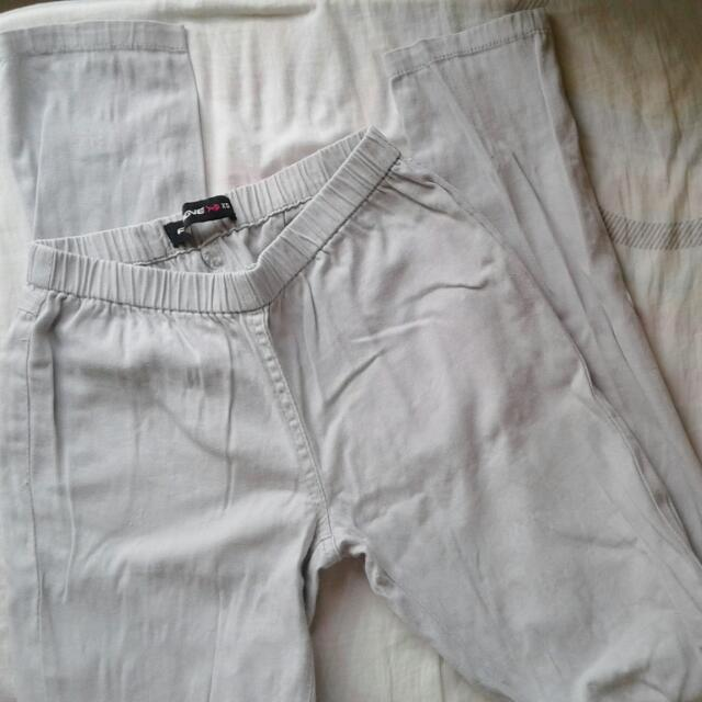 Gray Fitted Pants