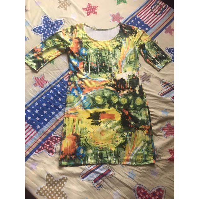Green 3/4s Dress