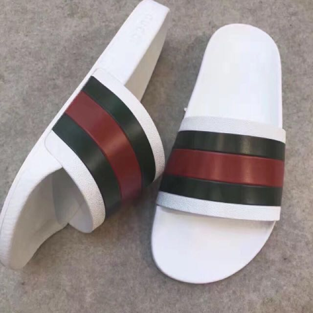 Gucci White Sandals US10