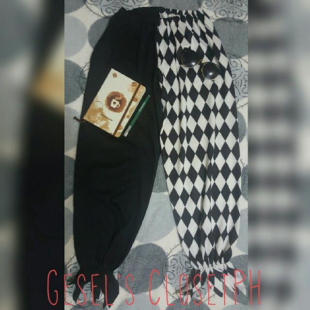 Harlequin Black&White Pants